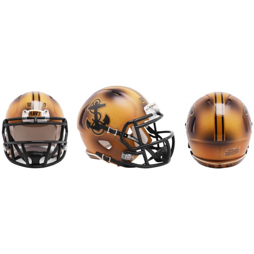 Riddell NCAA Navy Midshipmen 2019 Bowl Game Throwback Speed Mini Football Helmet