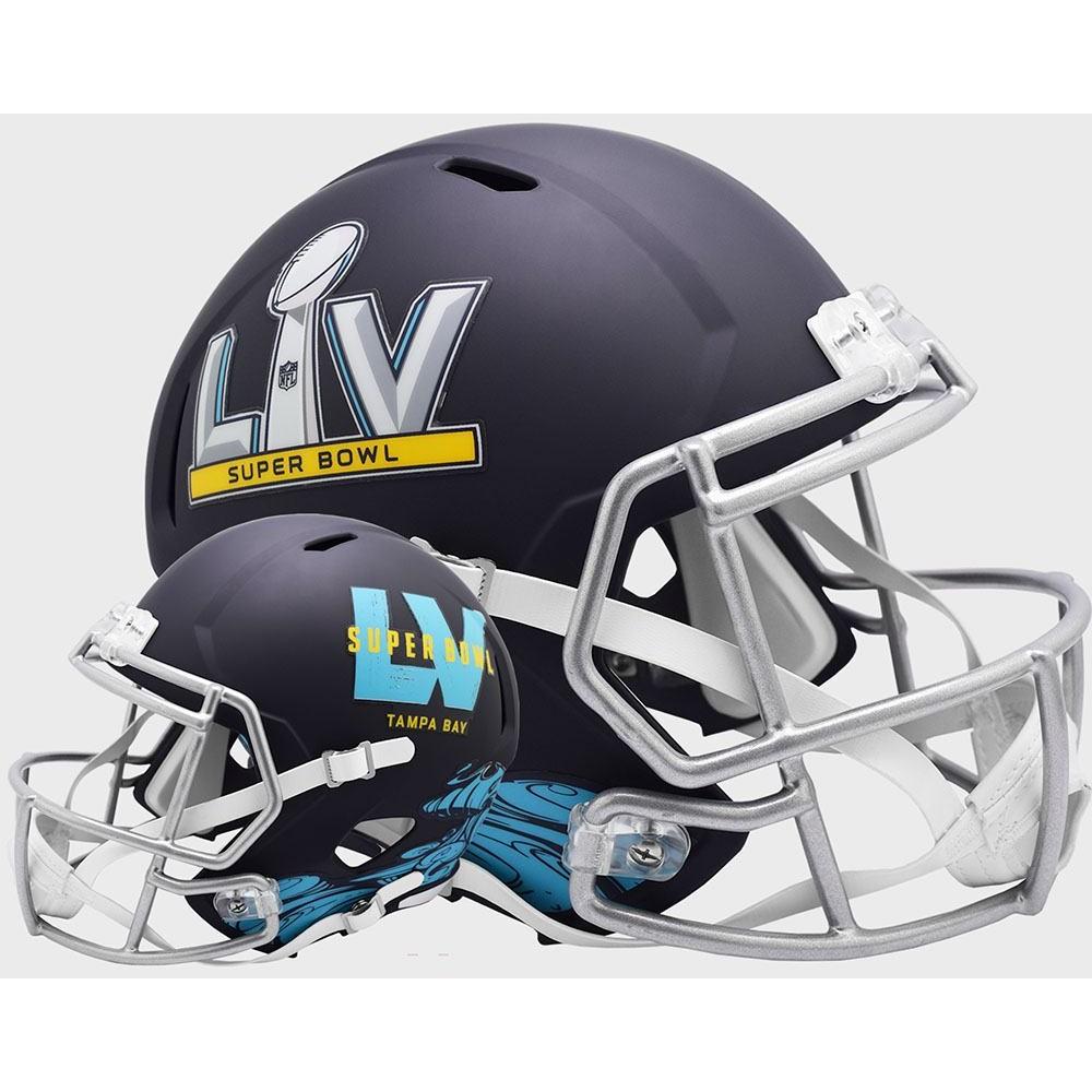 NFL Super Bowl 55 Flat Navy New 2020 Riddell Mini Speed Helmet