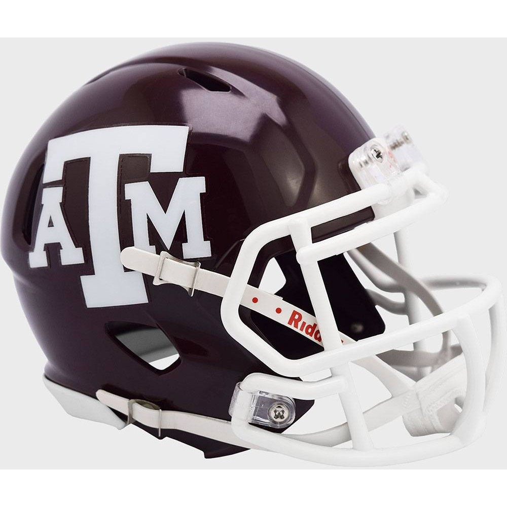 Texas A&M Aggies 2020 White Facemask Riddell Full Size Authentic SpeedFlex Helmet