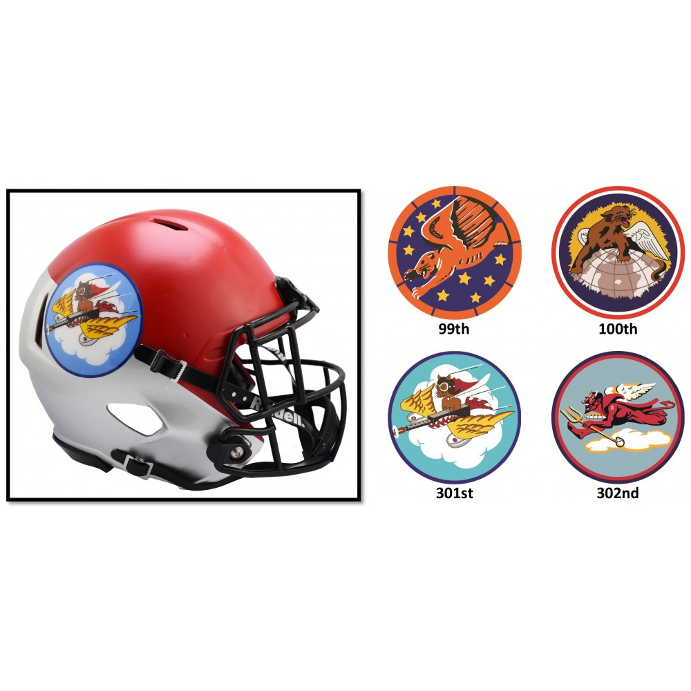 Air Force Falcons Tuskegee Airmen 100th Riddell Mini Speed Helmet
