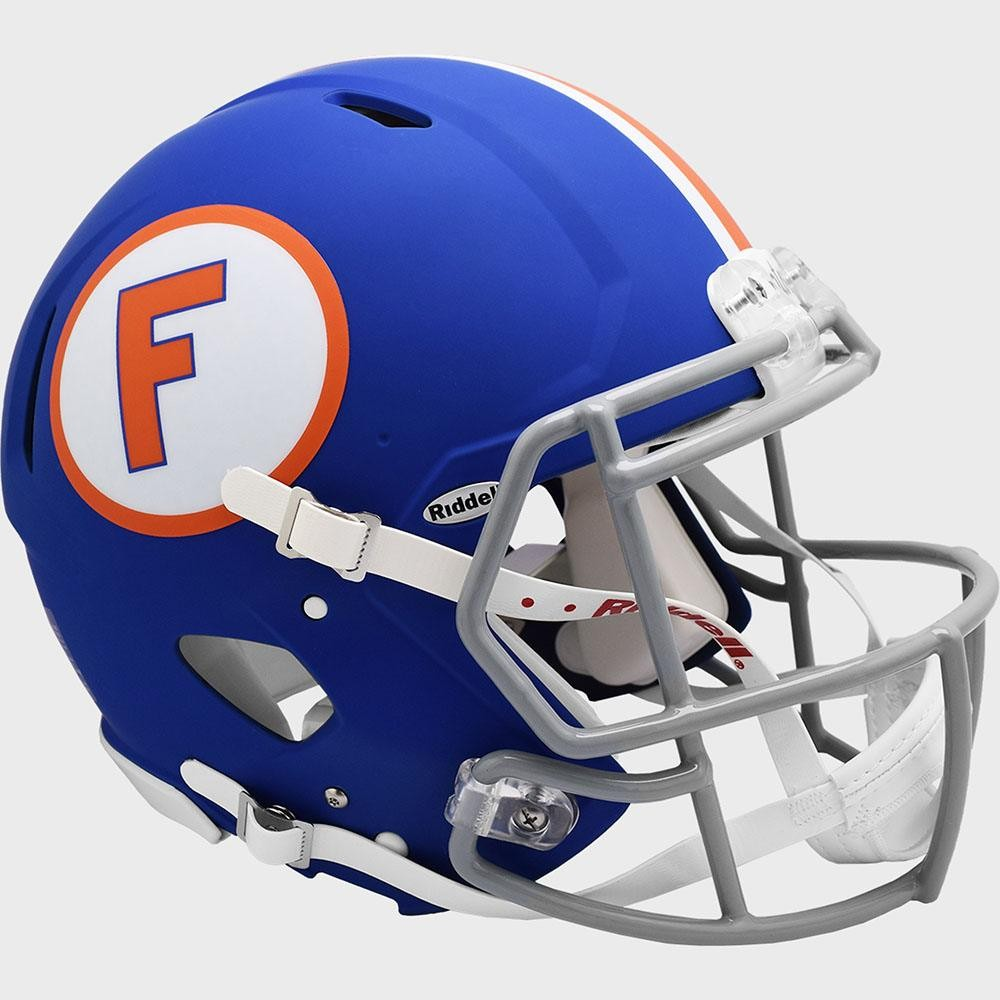 Limited Edition Florida Gators Flat Blue Throwback New 2020 Riddell Full Size Authentic Speed Helmet