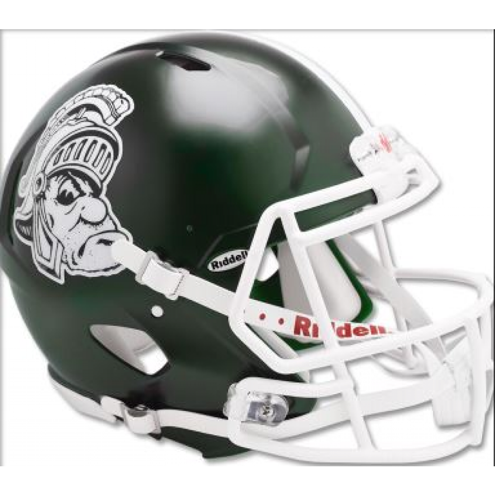Michigan St Spartans Gruff Sparty Riddell Full Size Replica Speed Helmet