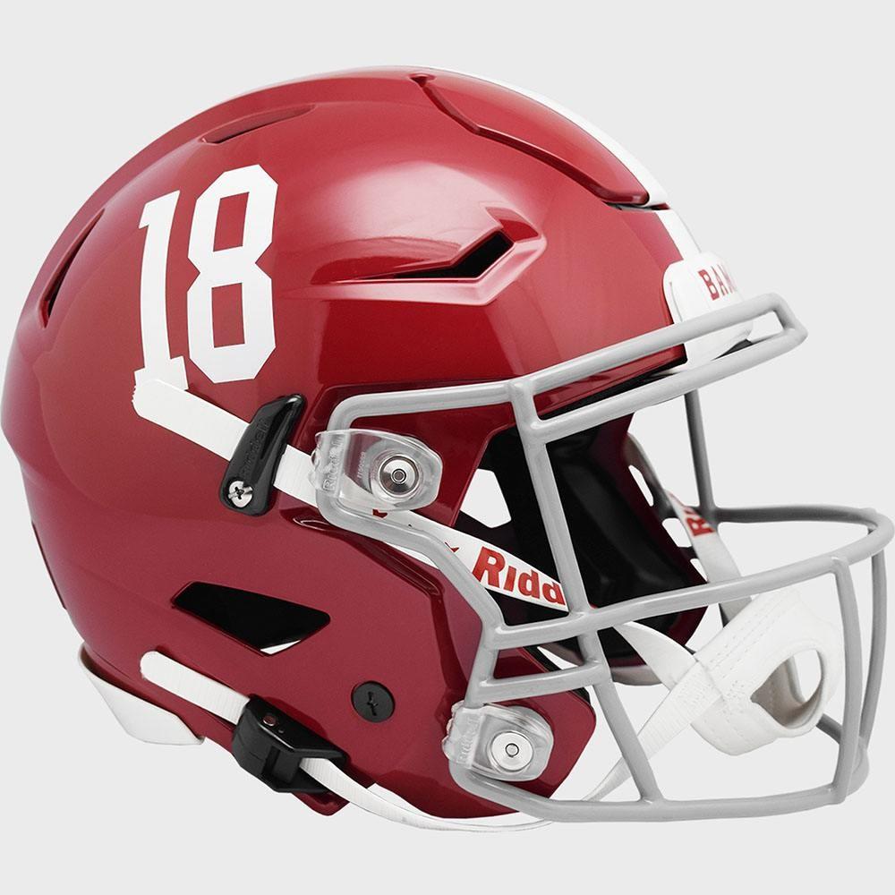 Alabama Crimson Tide #18 Riddell Full Size Authentic SpeedFlex Helmet