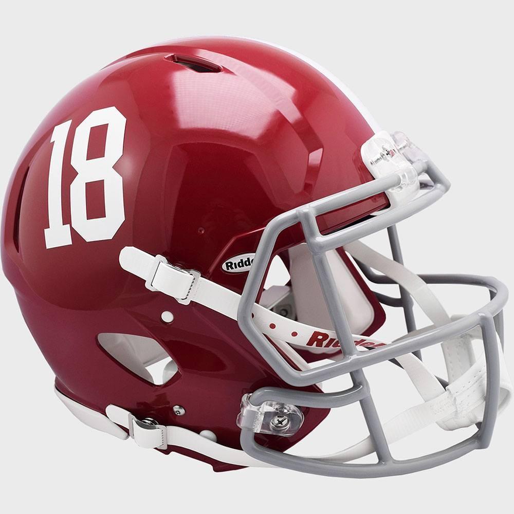 Alabama Crimson Tide #18 Riddell Full Size Authentic Speed Helmet