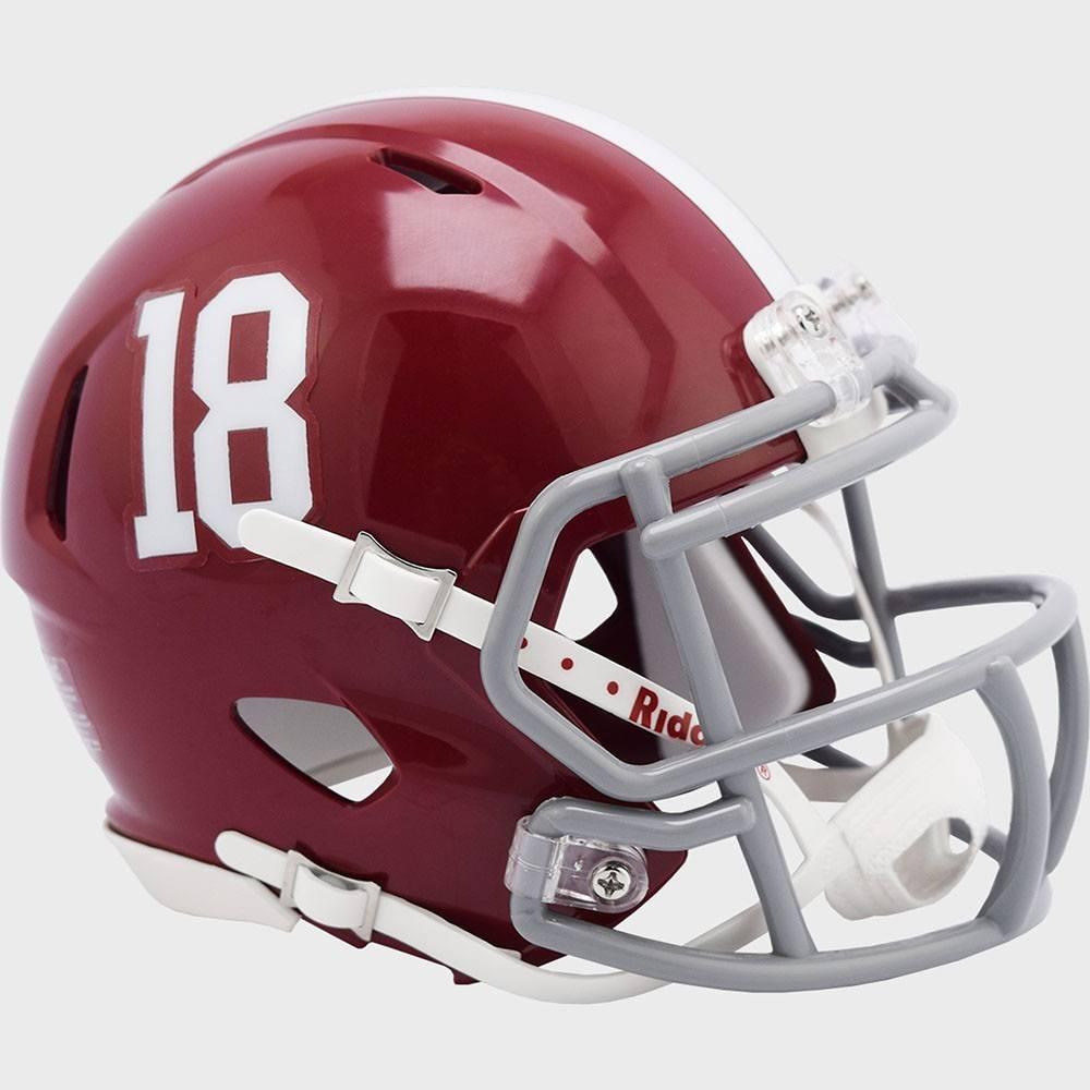 Alabama Crimson Tide #18 Riddell Mini Speed Helmet