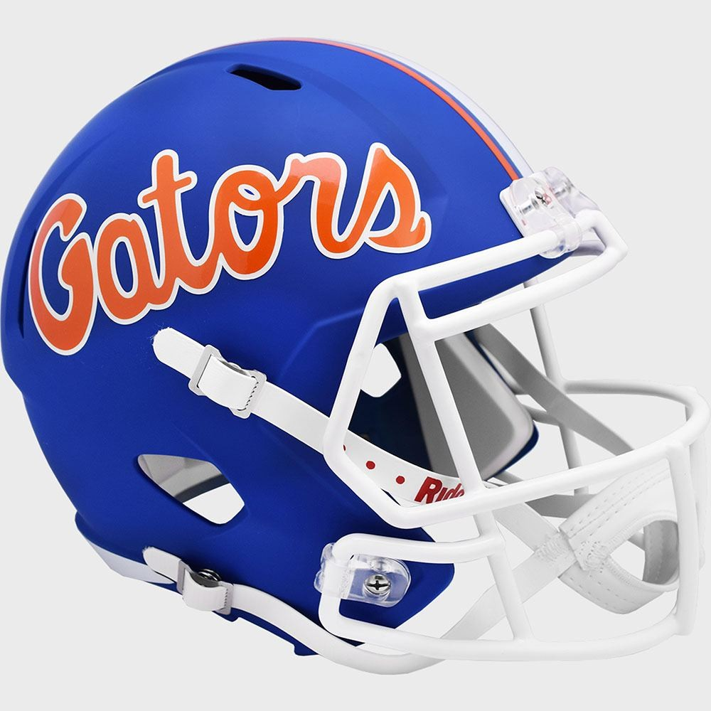 Florida Gators Flat Blue Script New 2021 Riddell Full Size Replica Speed Helmet