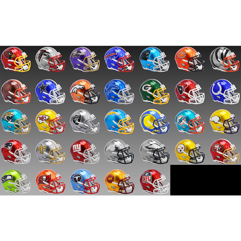 Limited Edition NFL Flash 2021 Riddell Full Size Authentic Speed Helmets