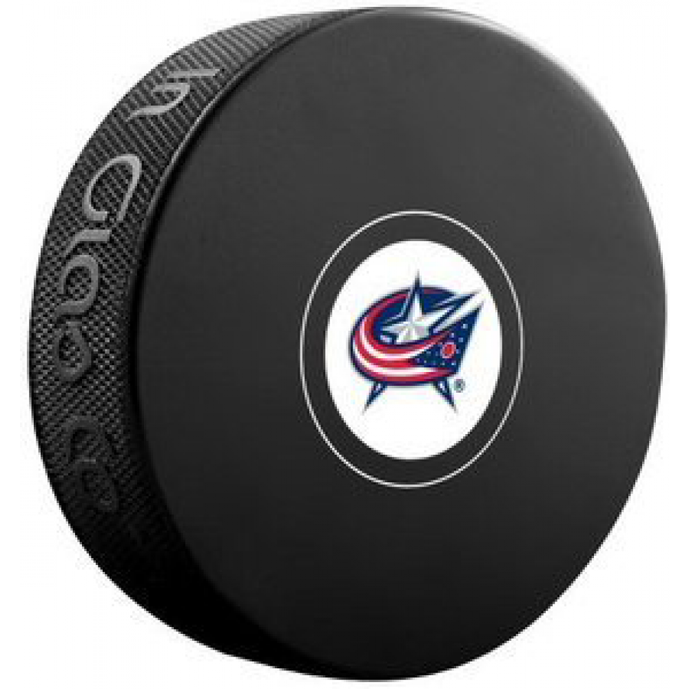 InGlasCo NHL Columbus Blue Jackets Autograph Souvenir Ice Hockey Puck