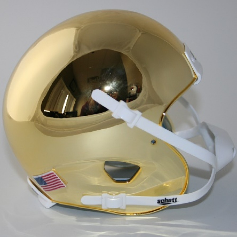 Nashville Sales Tax >> Schutt Gold Chrome Blank Customizable XP Authentic Mini Football Helmet Shell