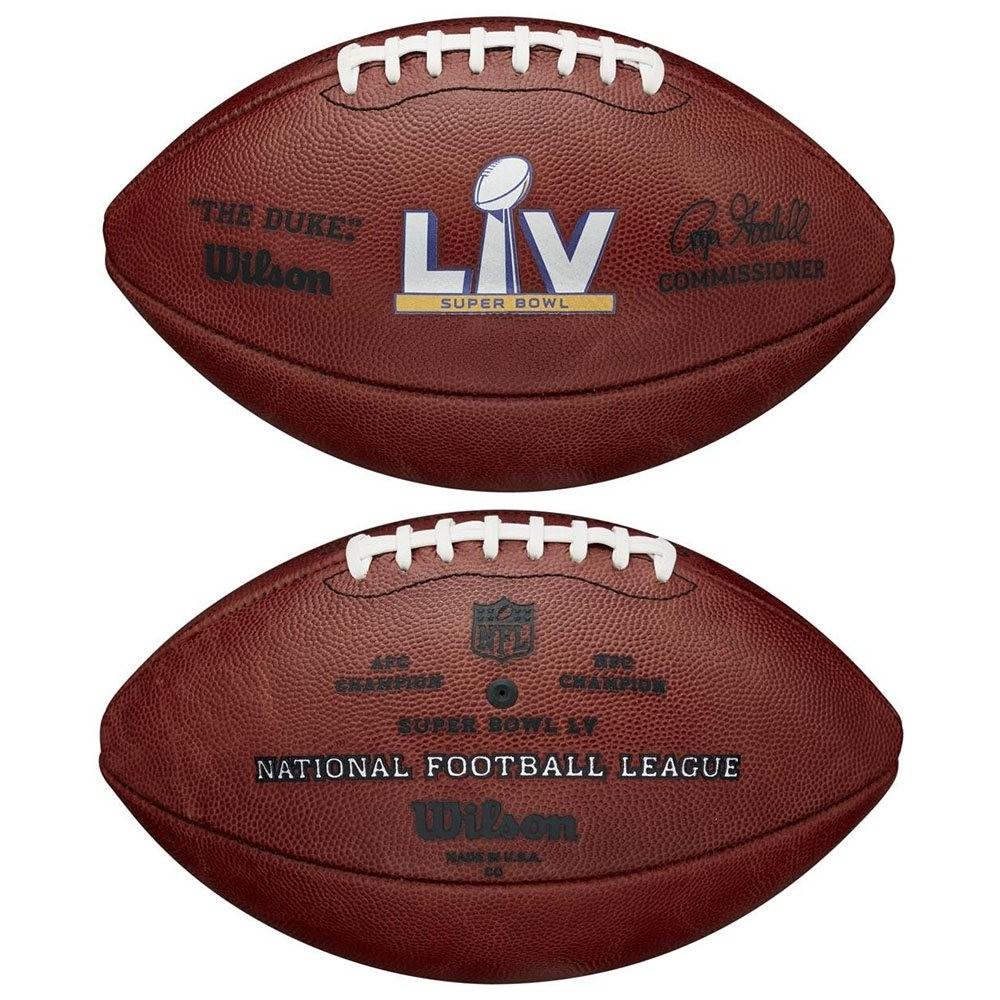 Wilson Super Bowl 55 NFL Roger Goodell The Duke Official Game Football