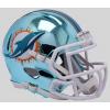 Riddell NFL Miami Dolphins 2018 Chrome Speed Mini Football Helmet