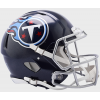 Riddell NFL Tennessee Titans 2018 Satin Navy Metallic Authentic Speed Full Size Football Helmet