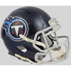 Riddell NFL Tennessee Titans 2018 Satin Navy Metallic Speed Mini Football Helmet