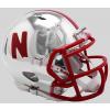 Riddell NCAA Nebraska Cornhuskers 2018 Chrome Speed Mini Football Helmet