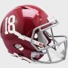 Alabama Crimson Tide #18 Riddell Full Size Replica Speed Helmet