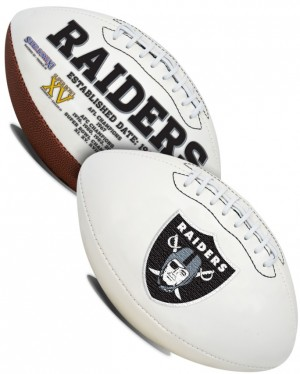 Las Vegas Raiders White Rawlings Official Size Signature Series Autograph Football