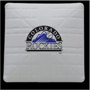 Colorado Rockies Jack Corbett Hollywood Authentic Full Size Base
