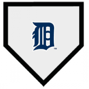 Detroit Tigers Authentic Full Size Home Plate