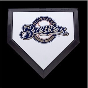 Milwaukee Brewers Authentic Mini Home Plate