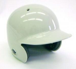 Grey Blank Customizable Authentic Mini Batting Helmet Shell
