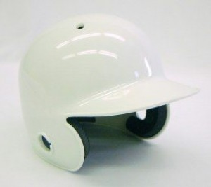 White Blank Customizable Authentic Mini Batting Helmet Shell