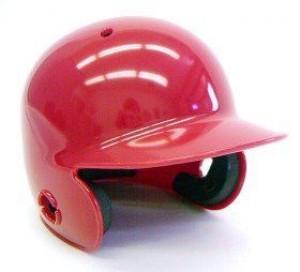 Scarlet Blank Customizable Authentic Mini Batting Helmet Shell
