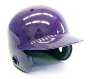 Purple Blank Customizable Authentic Mini Batting Helmet Shell
