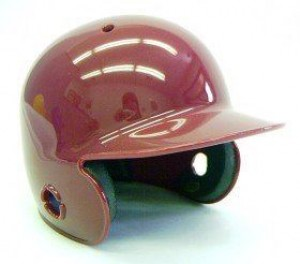 Maroon Blank Customizable Authentic Mini Batting Helmet Shell