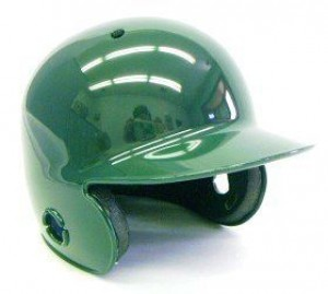 Dark Green Blank Customizable Authentic Mini Batting Helmet Shell