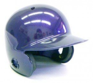 Purple Metallic Blank Customizable Authentic Mini Batting Helmet Shell