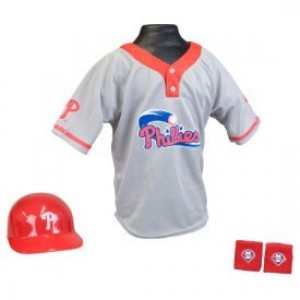 Philadelphia Phillies Kids (Ages 5-9) Batting Helmet and Jersey Top Set