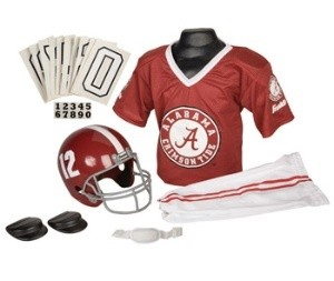 Alabama Crimson Tide #12 Kids (Ages 7-9) Medium Replica Deluxe Uniform Set