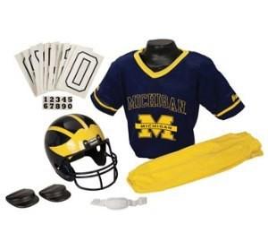 Michigan Wolverines Kids (Ages 7-9) Medium Replica Deluxe Uniform Set