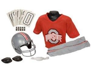 Ohio St Buckeyes Kids (Ages 7-9) Medium Replica Deluxe Uniform Set