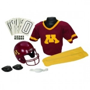 Minnesota Golden Gophers Kids (Ages 7-9) Medium Replica Deluxe Uniform Set