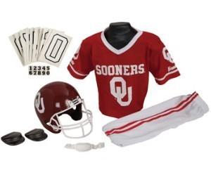 Oklahoma Sooners Kids (Ages 7-9) Medium Replica Deluxe Uniform Set