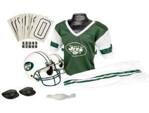 New York Jets Kids (Ages 7-9) Medium Replica Deluxe Uniform Set