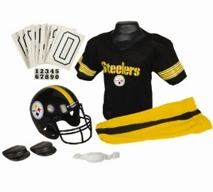 Pittsburgh Steelers Kids (Ages 7-9) Medium Replica Deluxe Uniform Set