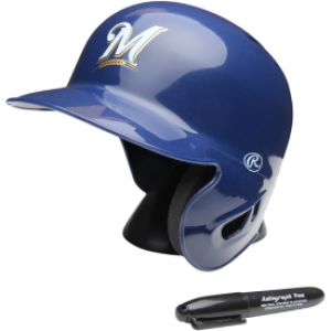 Rawlings MLB Milwaukee Brewers Replica Mini Batting Helmet