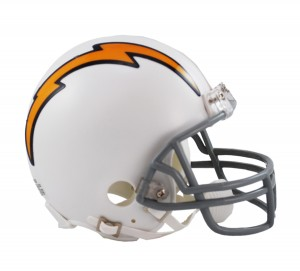 San Diego Chargers 1961-1973 Throwback Replica Mini Helmet