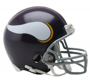 Minnesota Vikings 1961-1979 Throwback Replica Mini Helmet