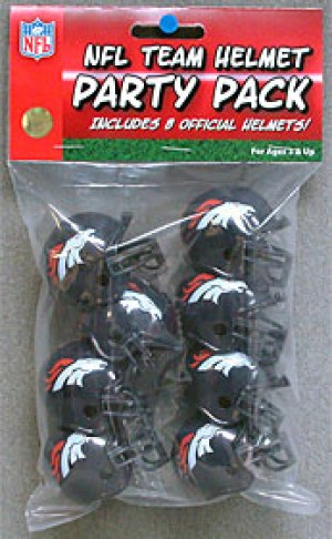 Denver Broncos Replica Gumball Party Pack Helmets 8ct