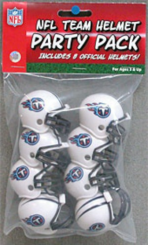 Riddell NFL Tennessee Titans 1999-2017 Throwback Replica Vsr4 Gumball Party Pack Football Helmets 8ct