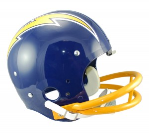 San Diego Chargers 1974-1987 Throwback Rep TK Susp Full Size Helmet