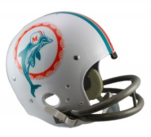 Miami Dolphins 1972 Throwback Replica TK Susp Full Size Helmet