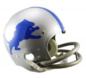 Detroit Lions 1962-1968 Throwback Replica TK Susp Full Size Helmet