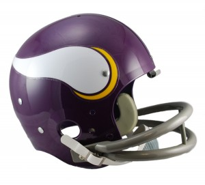 Minnesota Vikings 1961-1979 Throwback Replica TK Susp Full Size Helmet