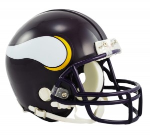Minnesota Vikings 1983-2001 Throwback Replica Mini Helmet