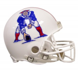 New England Patriots 1982-1989 Throwback Authentic Full Size Helmet