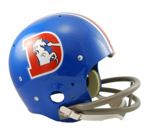 Denver Broncos 1968-1974 Throwback Replica TK Susp Full Size Helmet